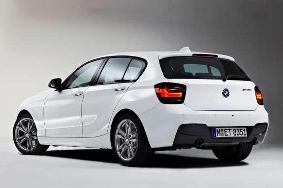BMWM135i side-rear view