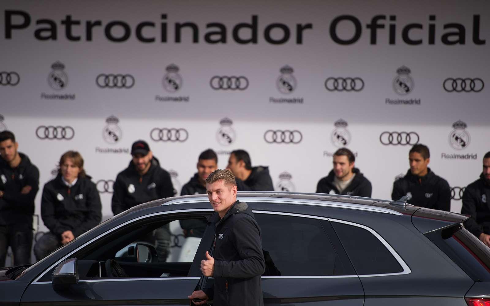 Вотэто спонсор! Audi раздала футболистам «Реала» машины— фото 819842