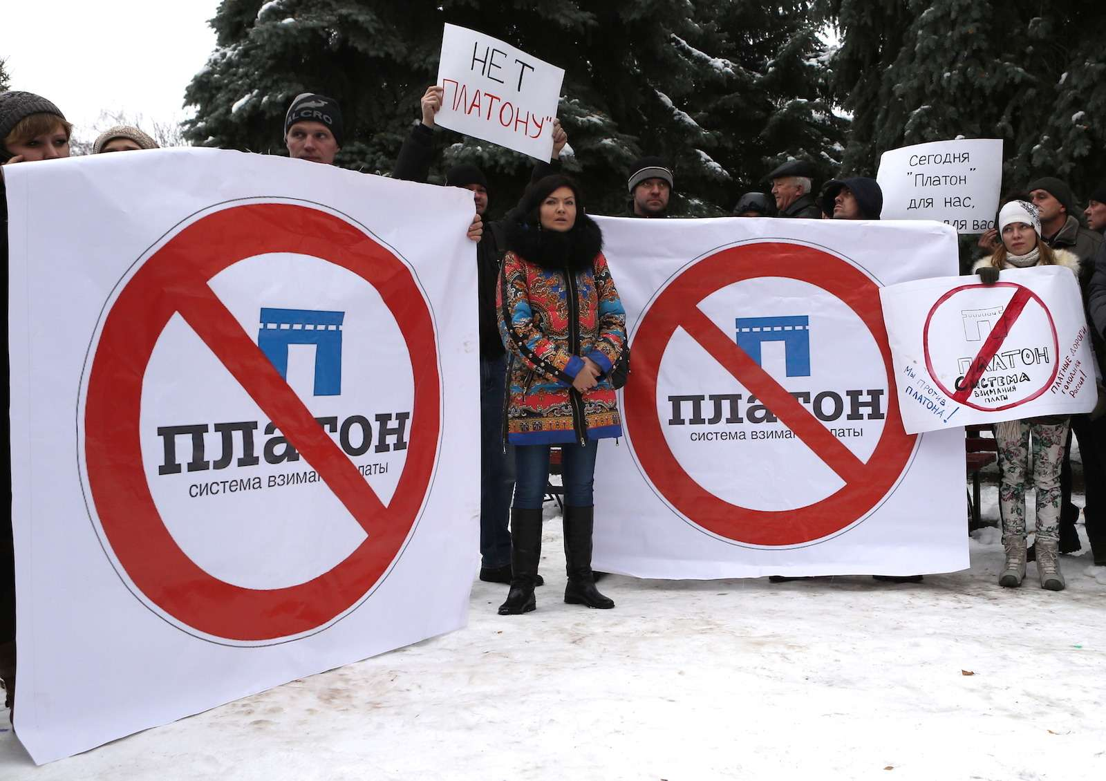 Truck drivers protest in Belgorod, Russia