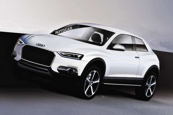 Audi Q2rendering byAutocar side-front view