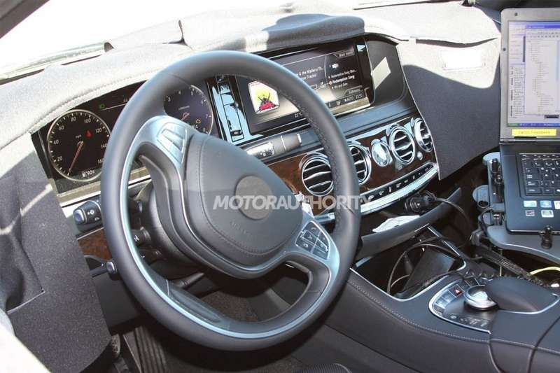 New Mercedes-Benz S-class test prototype interior 3