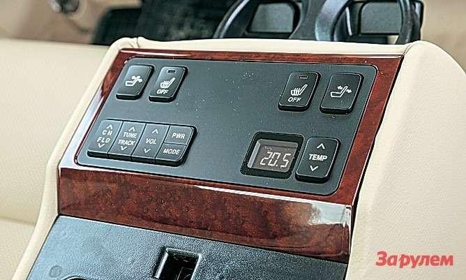 Отдельный блок управления комфортом взадней части— самоето дляслужебной машины.