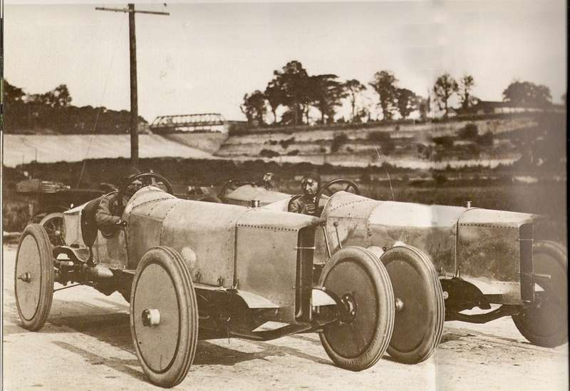 Prince Henry KN2 Vauxhall's pictured at Brooklands in 1913 no copyright