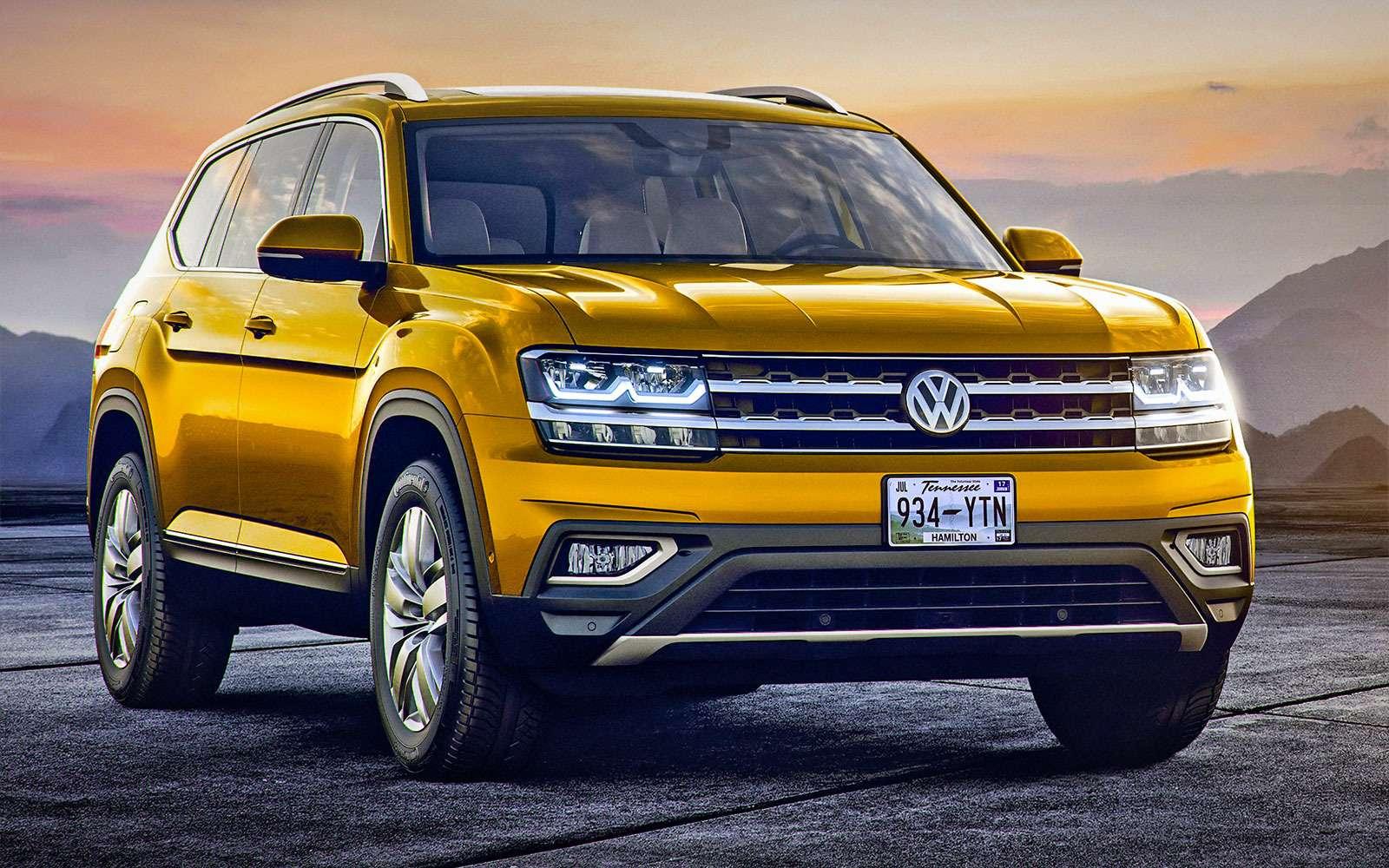 Новый Volkswagen Atlas: ждем «американца» вРоссии!— фото 675932
