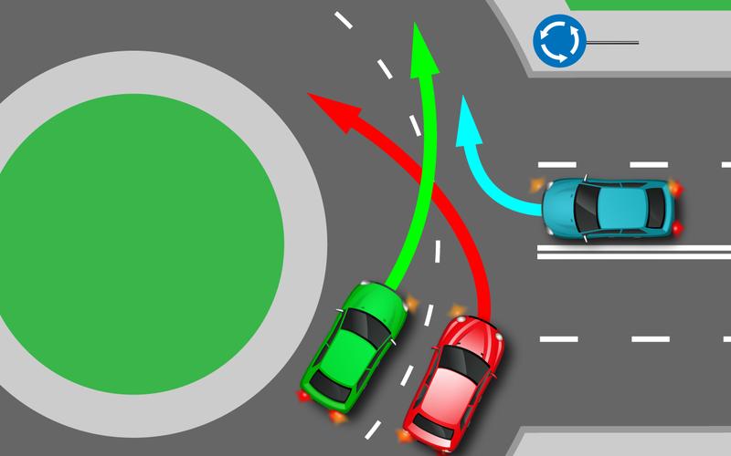 Простейший тест (дляопытного водителя): кто кому уступит?