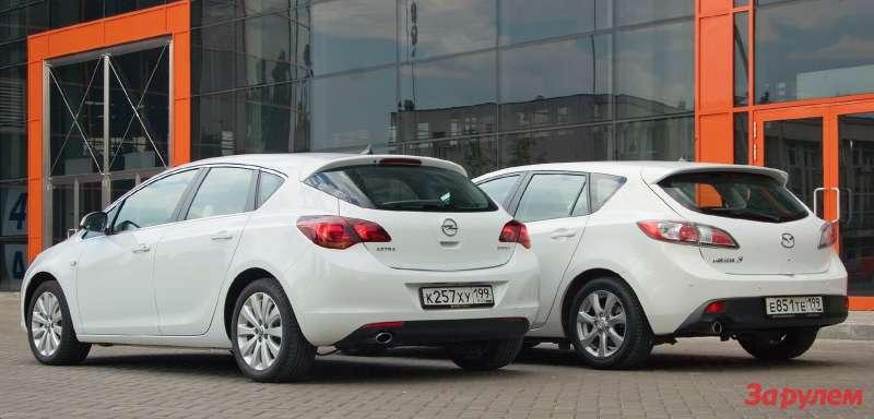 Mazda3и Opel Astra