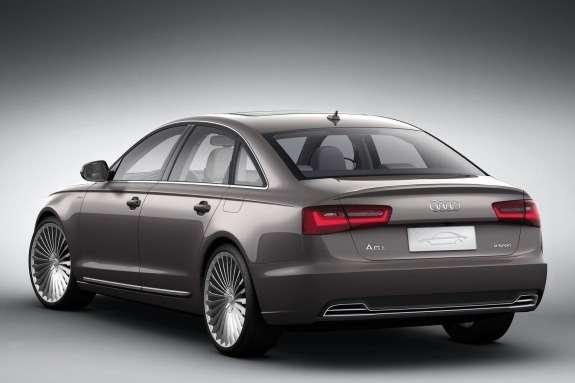 Audi A6L e-tron Concept side-rear view
