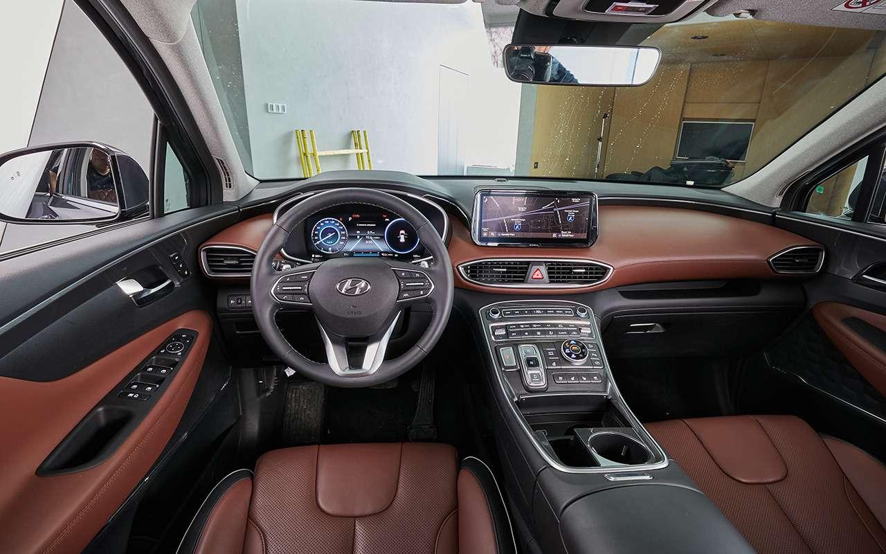 Hyundai Santa Fe2021: онпаркуется скнопки! Идетей баюкает!— фото 1227610