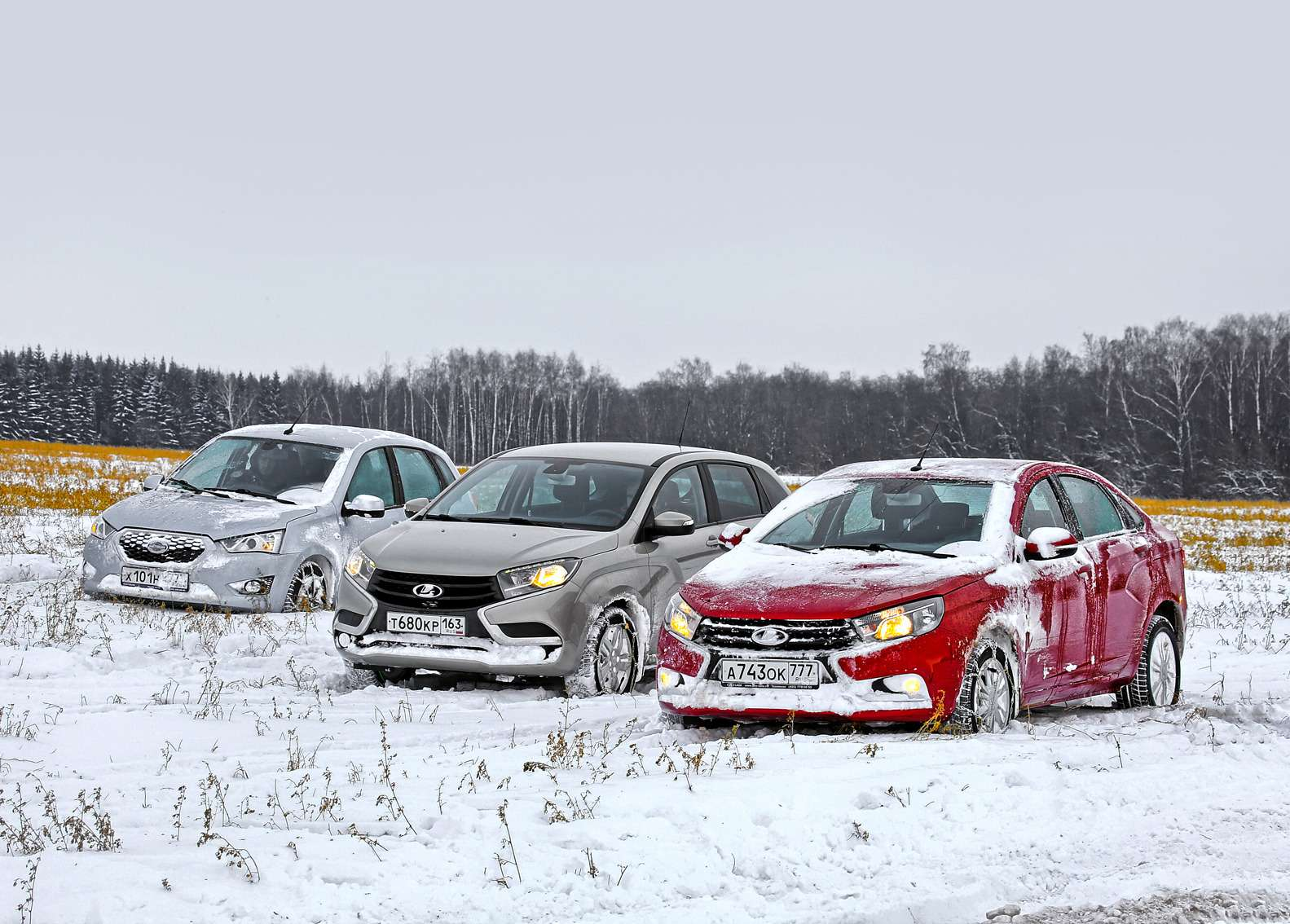 Большой зимний тест: Lada Vesta, Lada XRAY иDatsun mi-DO изпарка ЗР— фото 571780