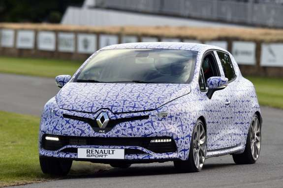 Renault Clio RS pre-production prototype side-front view