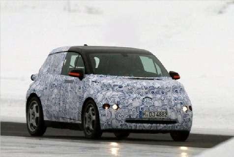Будущий электрокар BMW i3засветился вкамуфляже