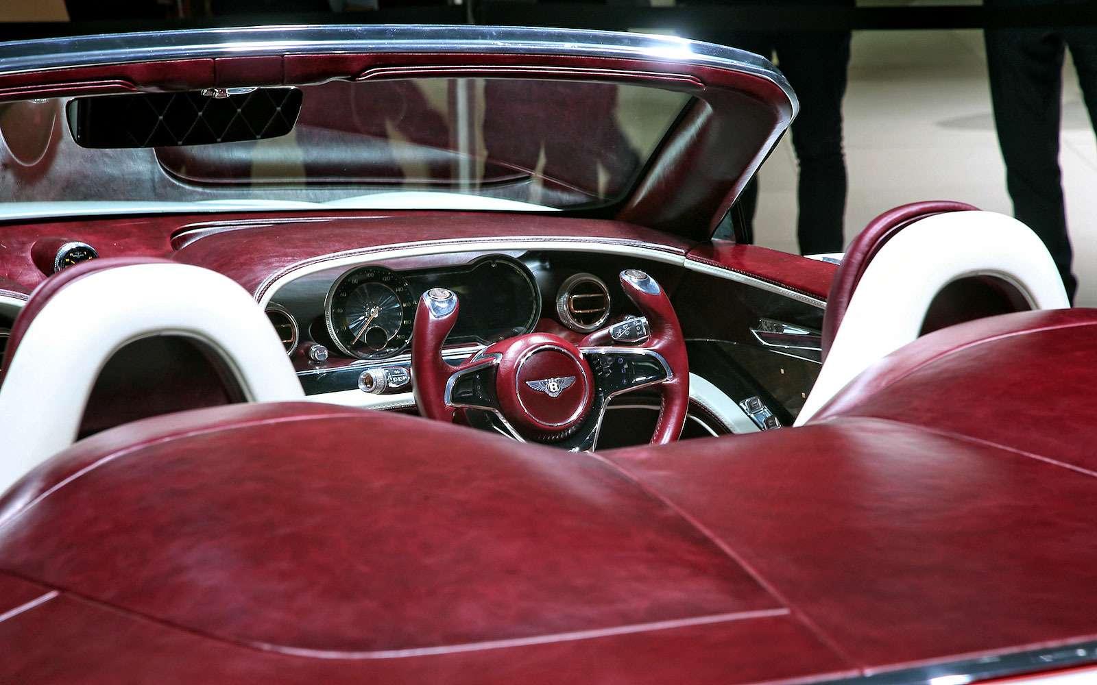 Безвредная красота: Bentley показала родстер EXP 12Speed 6e— фото 718265