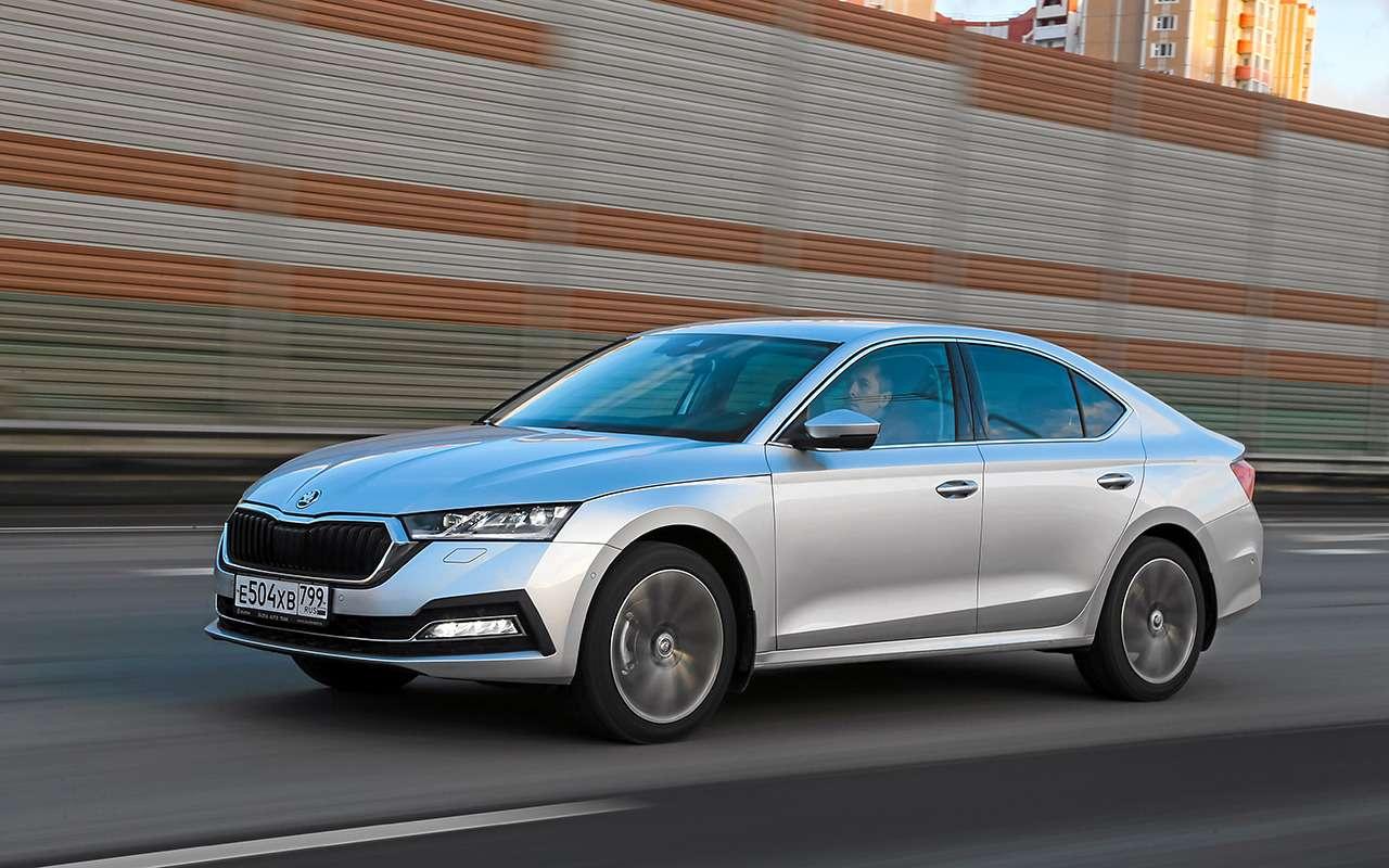 Новая Octavia против больших седанов— Kia K5и Mazda 6— фото 1220468