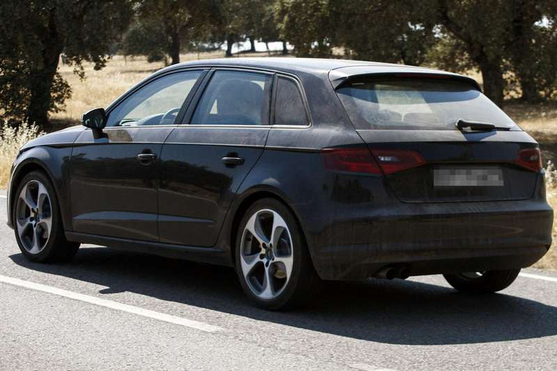 New Audi A3 Sportback test prototype side-rear view_no_copyright