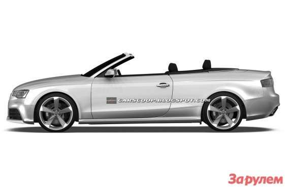 Audi RS5 Cabriolet sketch side view