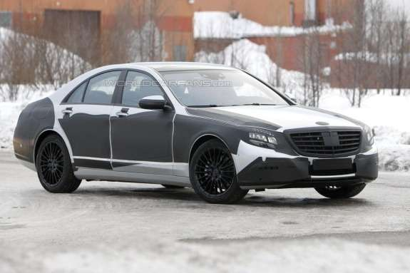 Mercedes-Benz S-class test prototype side-front view