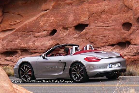 Next Porsche Boxster side-rear view 3