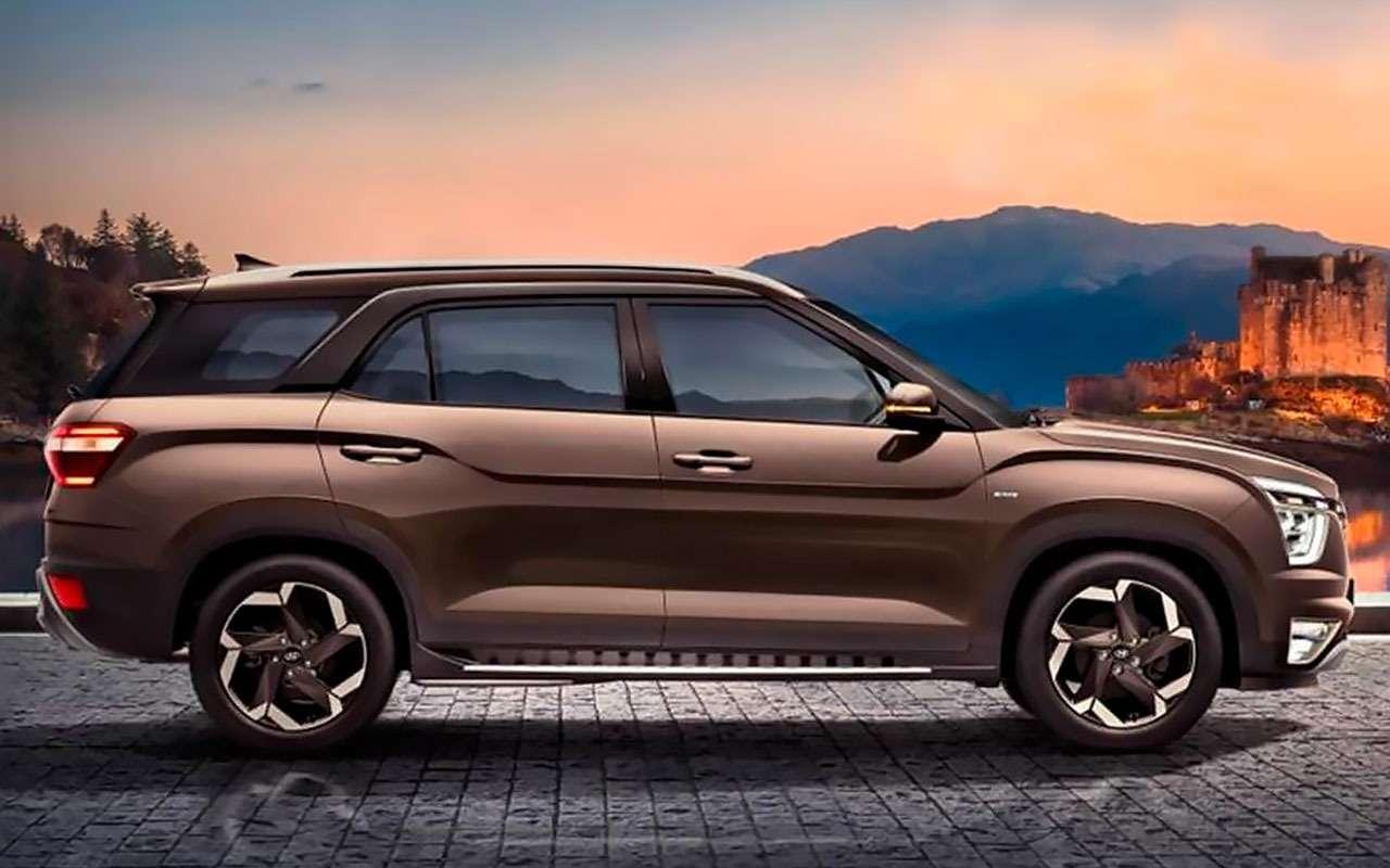 Hyundai Alcazar— новая семиместная Creta— фото 1237934