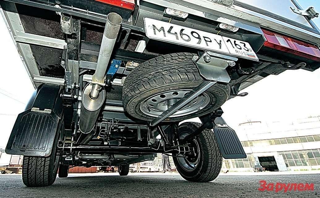 Грузовая часть авто— рамная, нарессорной подвеске.