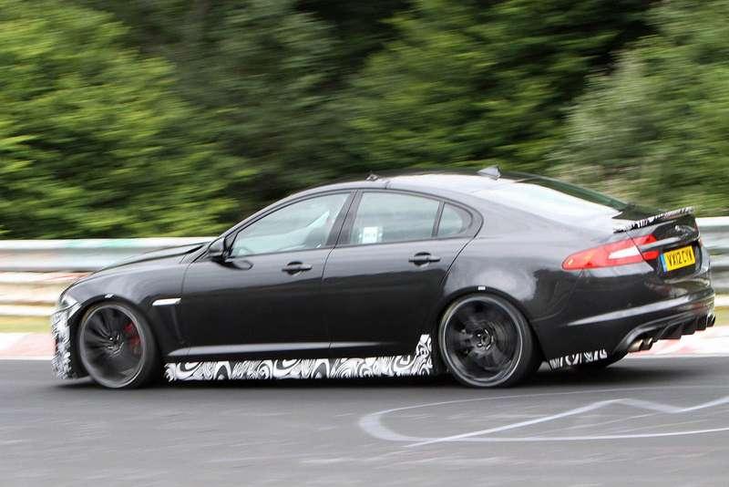 Jaguar XFR-S test prototype side view_no_copyright