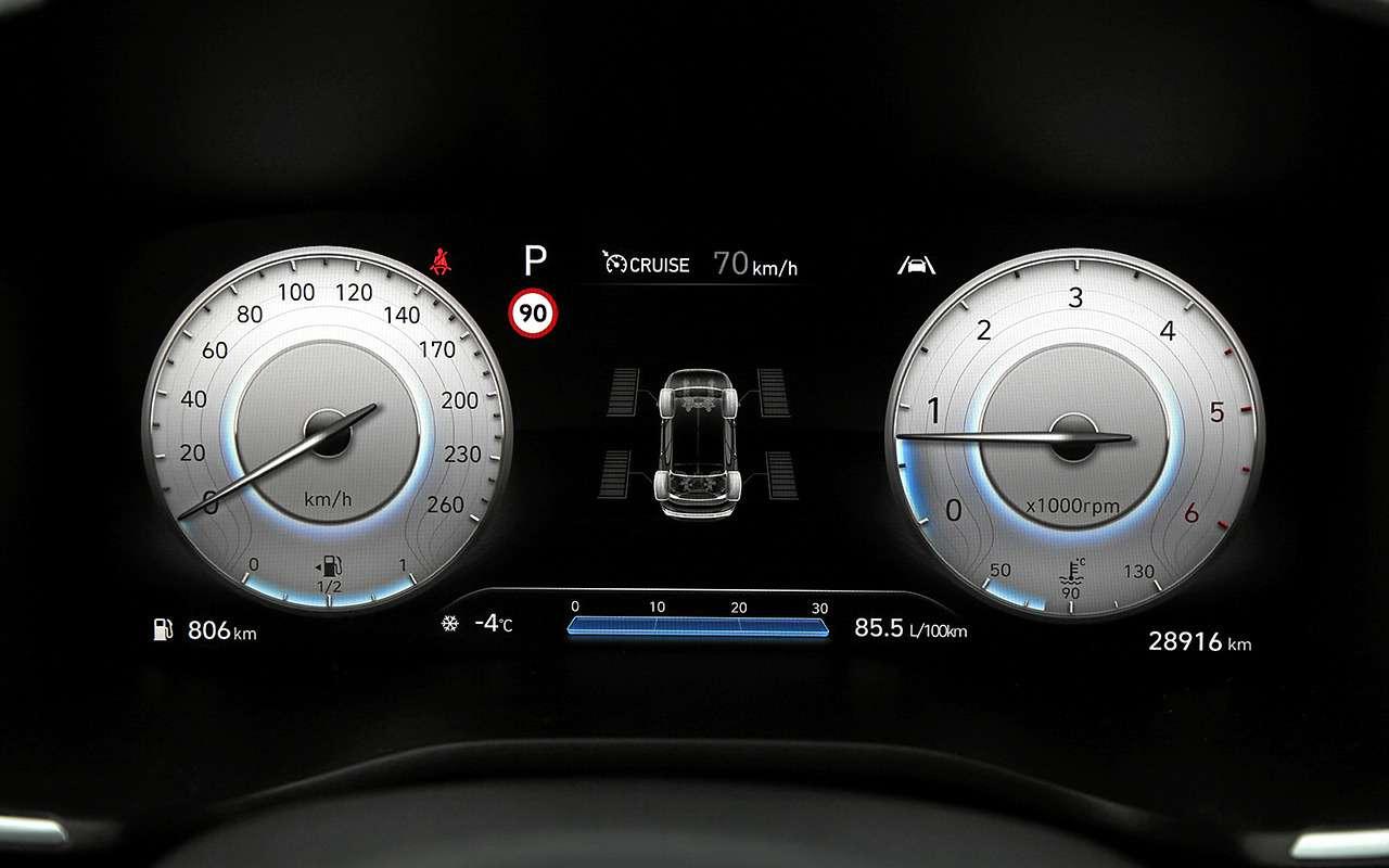 Hyundai Santa Fe2021: онпаркуется скнопки! Идетей баюкает!— фото 1227608