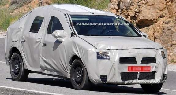NewDacia Logan test prototype side-front view