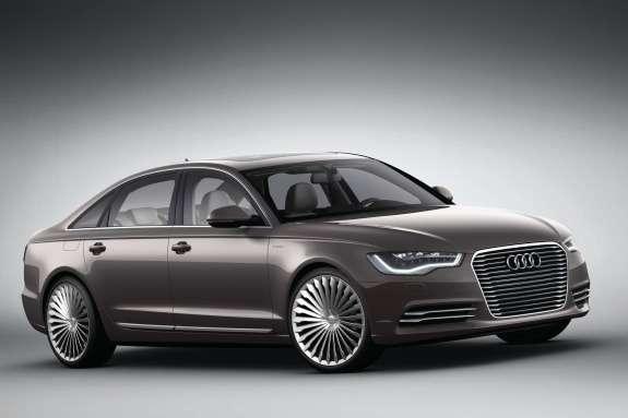 Audi A6L e-tron Concept side-front view
