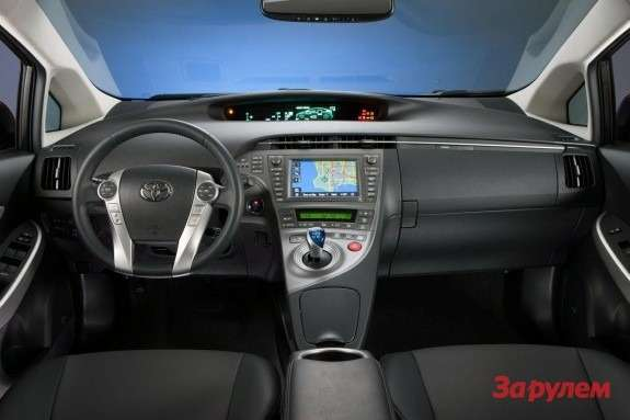 Facelifted Toyota Prius inside