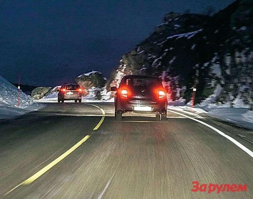 Отлично вычищенные дороги Норвегии.