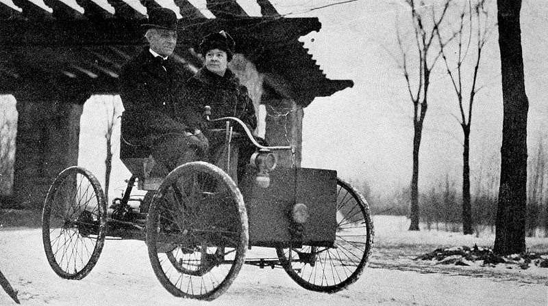 4  Mr and Mrs Henry Ford in his first car no copyright