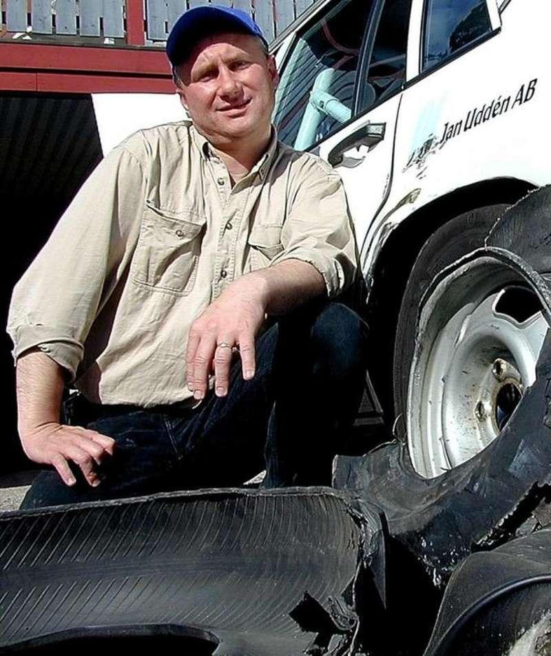 Soderman установил рекорд скорости, проехав наOpel Kadett надвух колесах