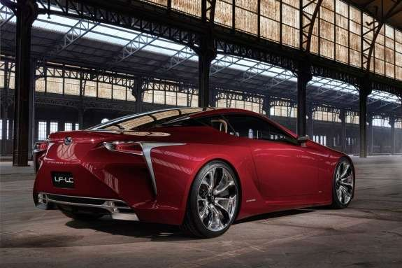Lexus LF-LC Concept side-rear view