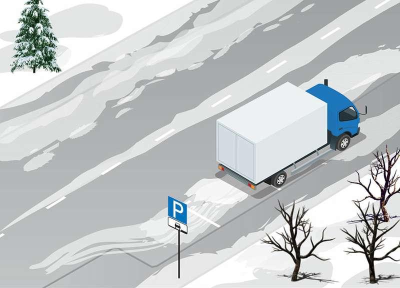 Может лигрузовик так встать? Простой (хотя неочень) тест