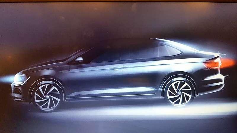 Вглобальной сети  появилось изображение новой версии  седана Фольксваген  Polo 2018