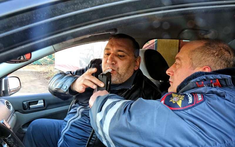 Проверка водителя наалкоголь
