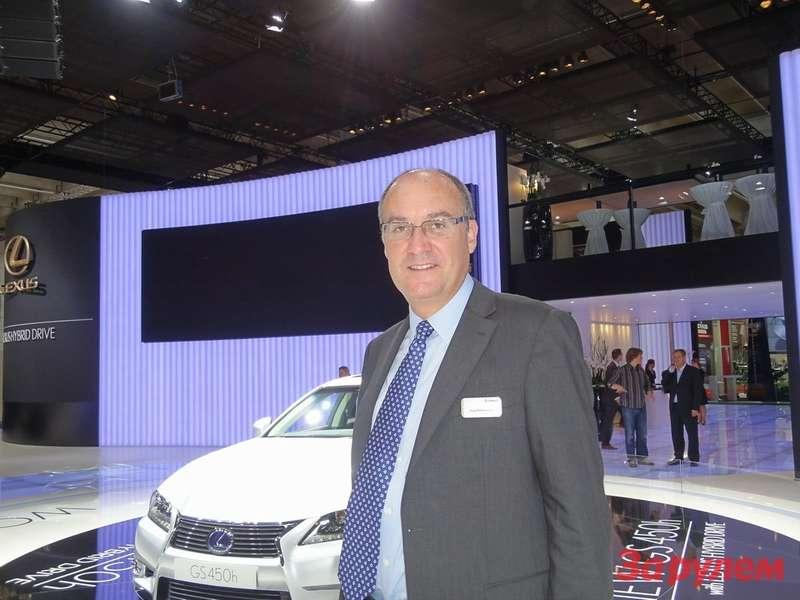 Энди Пфайффенбергер, вице-президент Lexus Europe