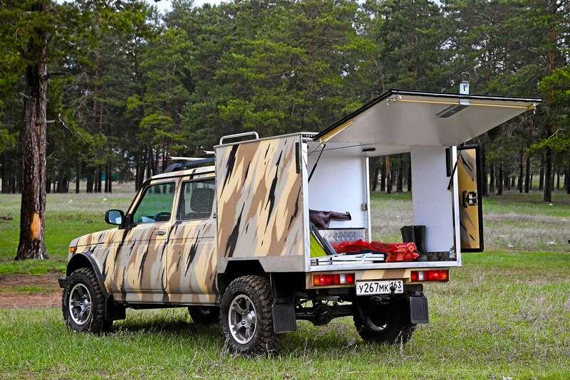 Фургон Лада 4х4 Рысь: будка вместо колпака