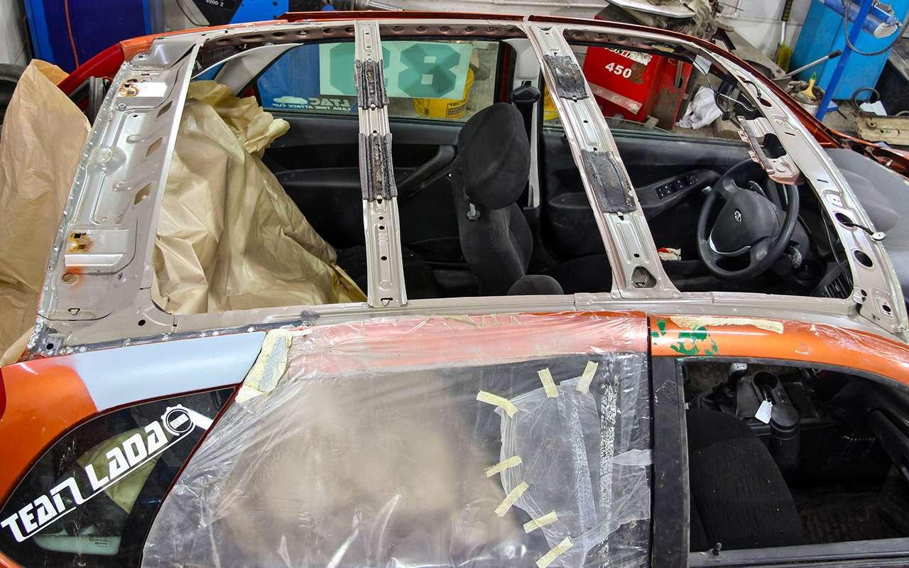 Бюджетный кузовной ремонт, или Как мывосстанавливали Калину после переворота— фото 901693