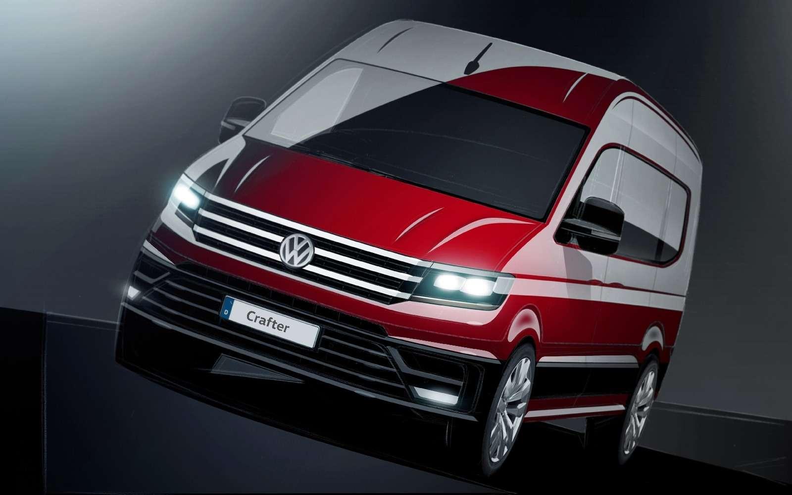 Мультивэном навеяло: новый Volkswagen Crafter дебютирует осенью— фото 604719