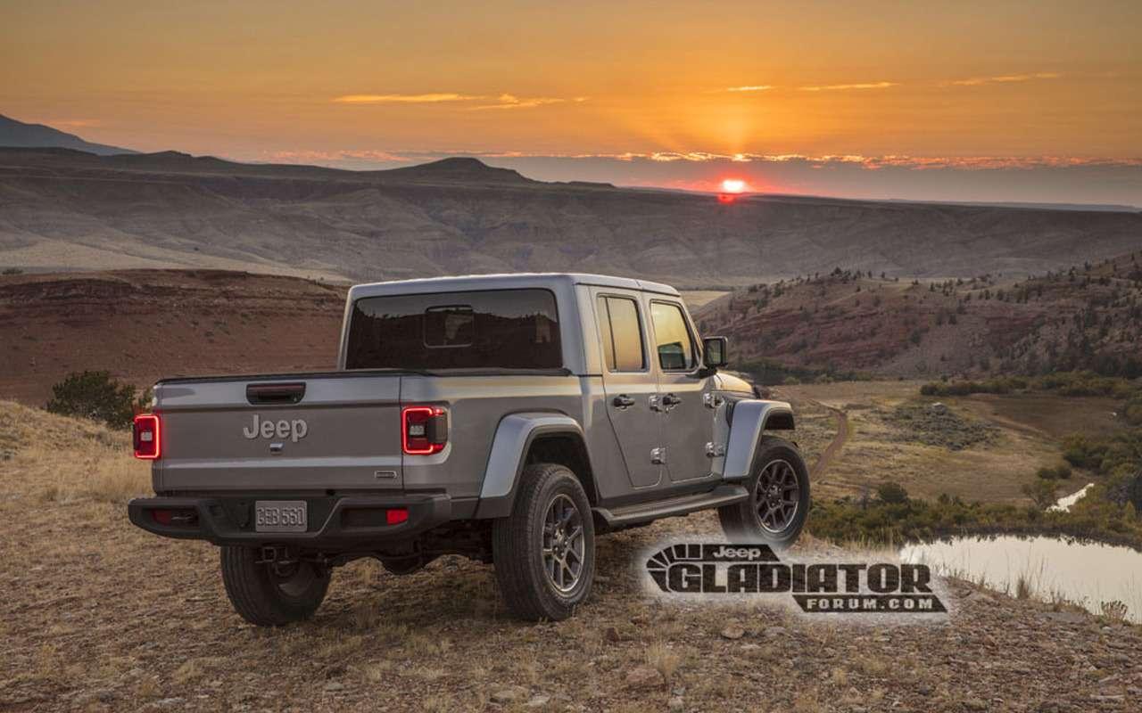 Рассекречен облик ихарактеристики пикапа Jeep Gladiator— фото 923081