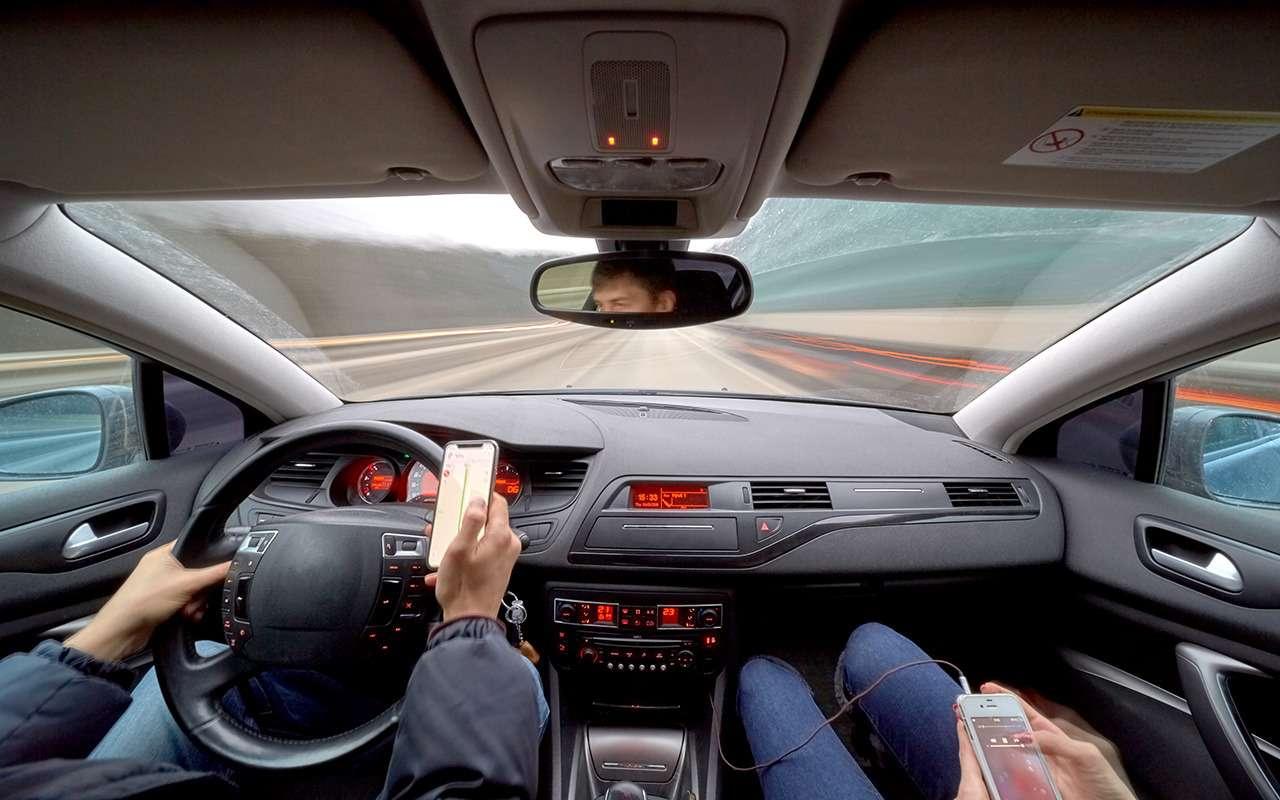 В 7 раз больше штраф  за использование телефона за рулем