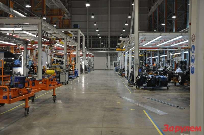 Производство SSangYong New Actyon. Монтаж полного привода ивыхлопной системы.