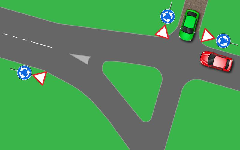 Новые правила проезда перекрестков с круговым движением. Кто прав на кругу?