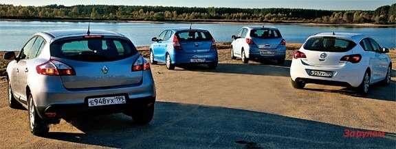 Nissan Tiida, Renault Megane, Hyundai I30, Opel Astra