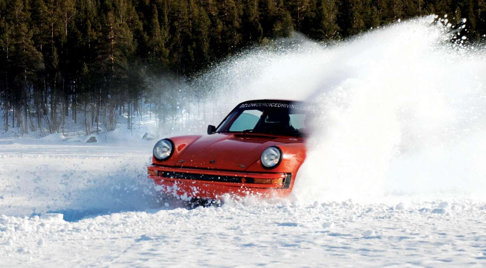Orange-in-snow-bank