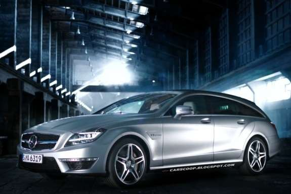Mercedes-Benz CLS 63 AMG Shooting Brake side-front view