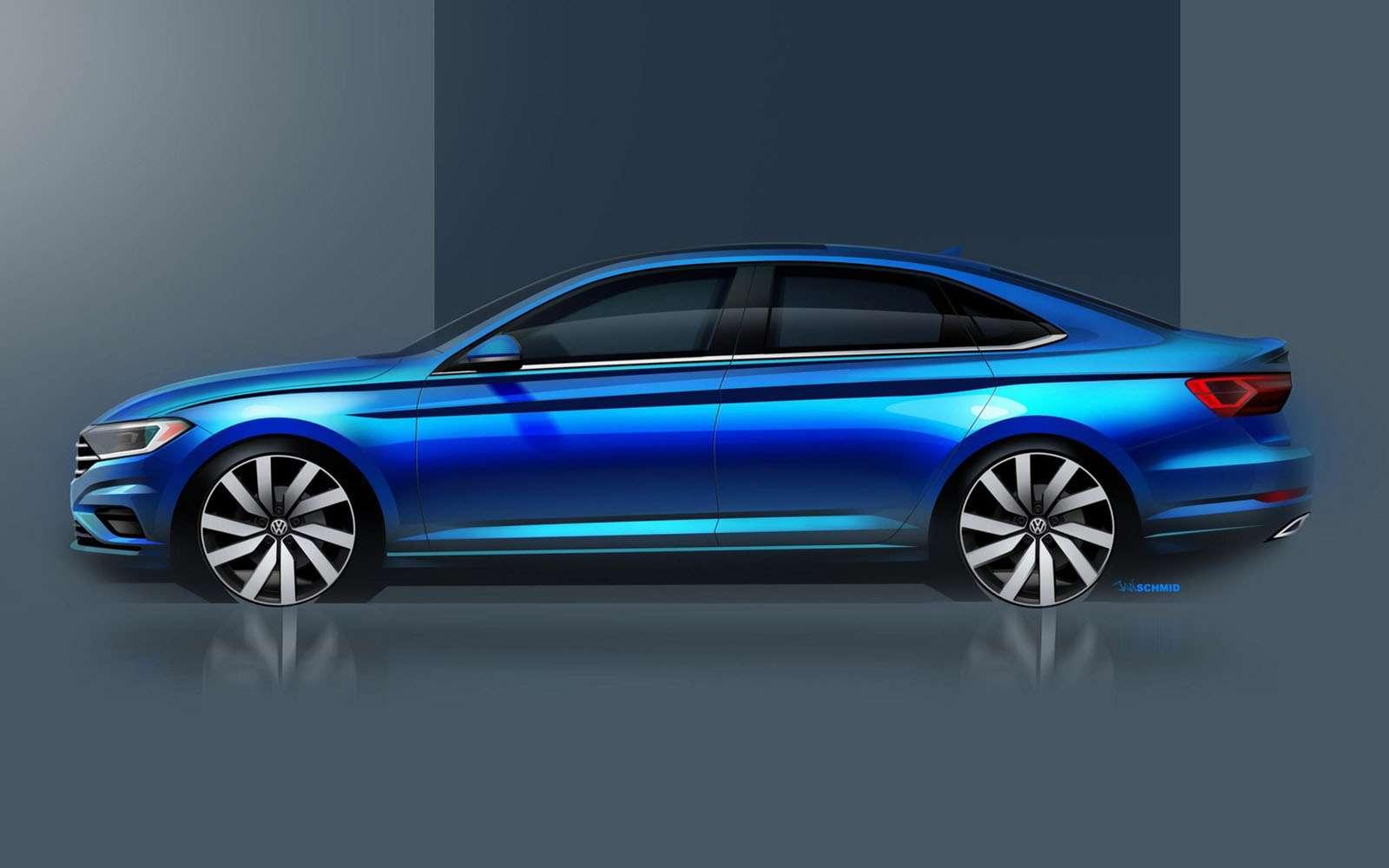Новый Volkswagen Jetta: рассекречены дизайн иинтерьер— фото 825933
