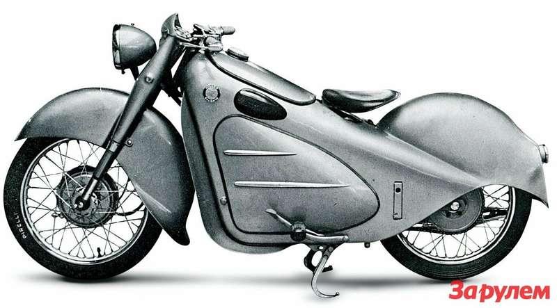 Итальянский конкурент— Miller-Balsamo. Наснимке— уже послевоенная (1947год) 250-кубовая модель Jupiter.
