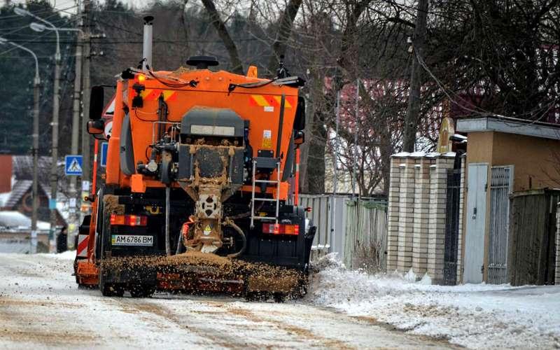 Уборка снега надорогах