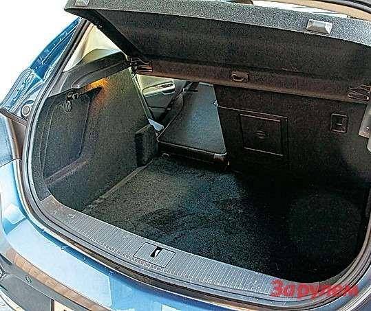 Солидное багажное отделение в«Астре»— дань практичности.